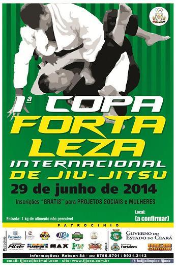 Copa Fortaleza de Jiu-Jitsu rola no dia 29 de junho no Na�tico